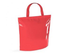 bolsa nevera de non-woven laminado de color rojo en fondo blanco