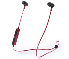 Auriculares Bluetooth con mando color rojo