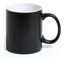 Taza de color negro e interior de color blanco para personalizar con laser