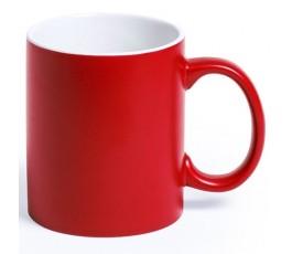 Taza de color rojo e interior de color blanco para personalizar con laser