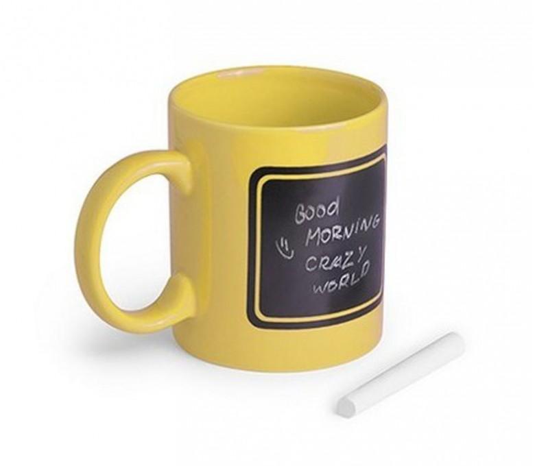 taza pizarra modelo A5038 color amarillo