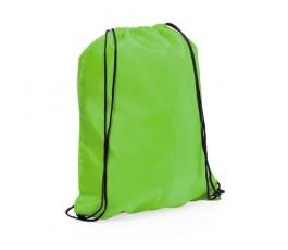 mochila con cordones modelo A3164 color verde claro