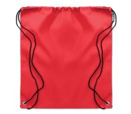 Mochila de cuerdas RPET modelo C9440 de color rojo presentada en plano