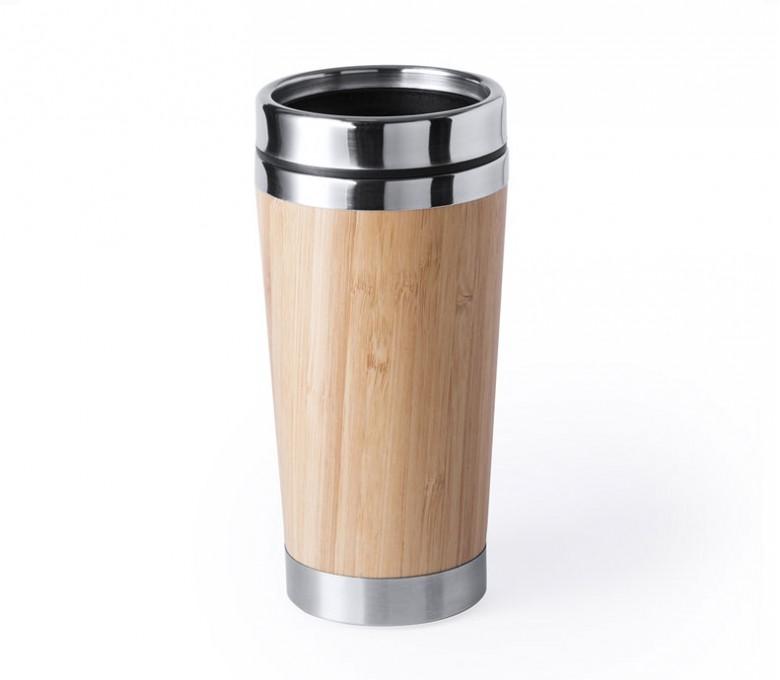 taza termo de bambu modelo A6170 para personalizar con logo