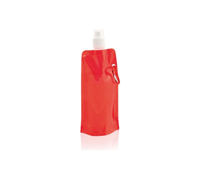 botella plegable modelo A3584 color rojo