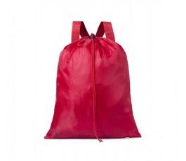 mochila de cuerdas ajustables de poliester color rojo