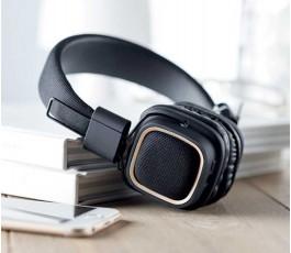 Auriculares vintage Bluetooth para personalizar en la mesa de trabajo