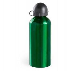 bidon de aluminio modelo A5099 color verde con tapon de cierre negro