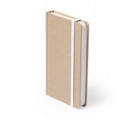 libreta A6 de cartón reciclado con cinta blanca
