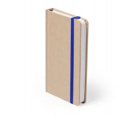 libreta A6 de cartón reciclado con cinta azul