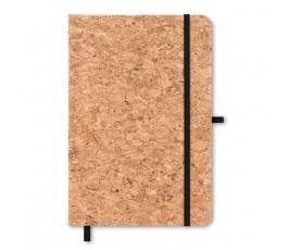 libreta tipo moleskine A5 de corcho con portaboligrafo cinta color negro