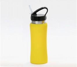 Botella premium de acero inoxidable color amarillo