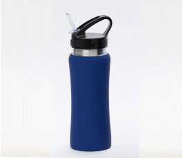 Botella premium de acero inoxidable color azul
