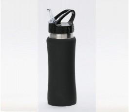 Botella premium de acero inoxidable color negro