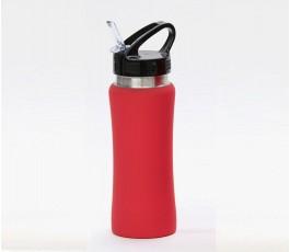 Botella premium de acero inoxidable color rojo