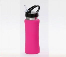 Botella premium de acero inoxidable color rosa