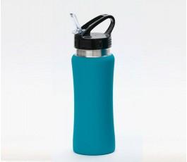 Botella premium de acero inoxidable color turquesa
