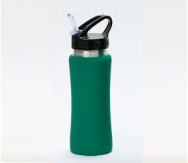 Botella premium de acero inoxidable color verde