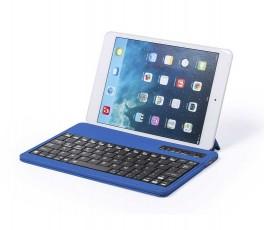 teclado bluetooth modelo A5305 color azul con tablet