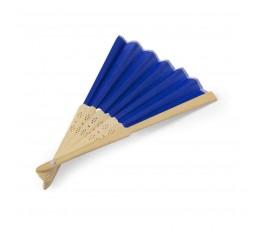 abanico de poliester y bambu modelo A6406 color azul