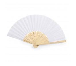 abanico de poliester y bambu modelo A6406 color blanco