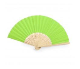abanico de poliester y bambu modelo A6406 color verde claro