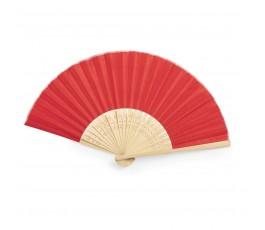 abanico de poliester y bambu modelo A6406 color rojo