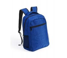 mochila para portatil tela tipo denim color azul
