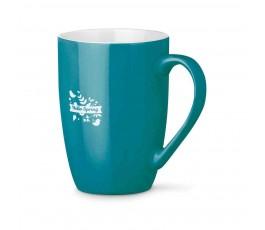 taza de ceramica modelo ZS93832 de color azul con logo