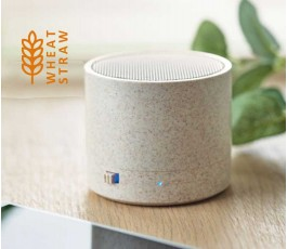 Altavoz Bluetooth con paja de trigo con sello wheat straw