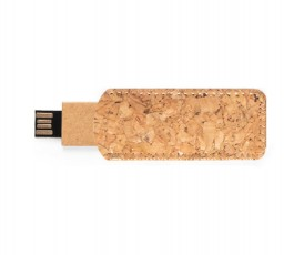 Memoria USB cartón reciclado 16GB en funda de corcho