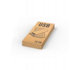 Caja de carton reciclado de la memoria USB cartón reciclado 16 GB