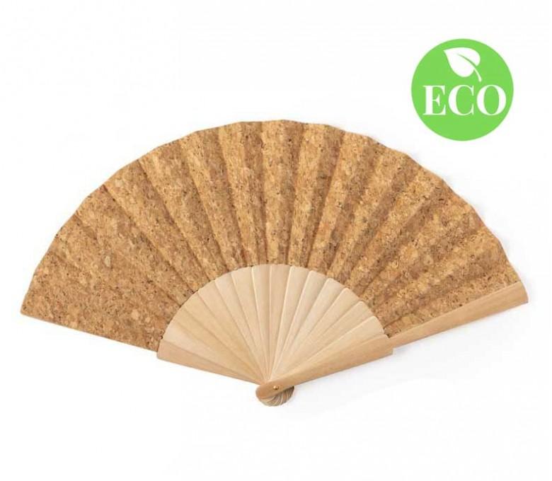 Abanico de corcho con sello ECO