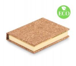 Bloc notas adhesivas tapa corcho con sello ECO