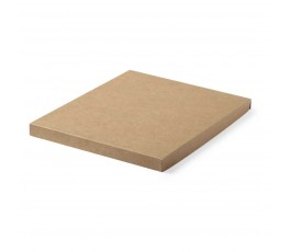 Caja de carton reciclado del set de libreta y bolígrafo en corcho