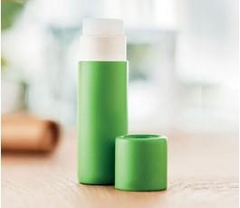 Balsamo labial carton reciclado color verde