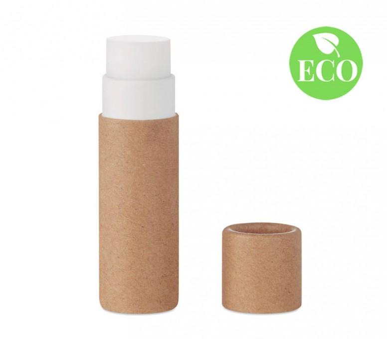Balsamo labial carton reciclado con sello ECO
