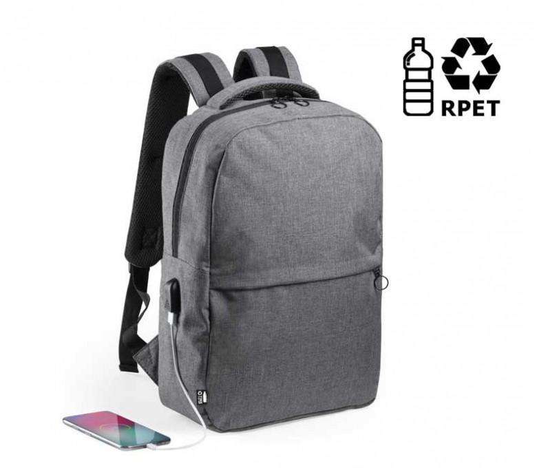 Mochila para portátil y tablet de RPET con sello RPET