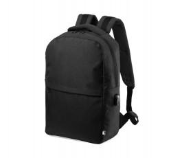 Mochila para portátil y tablet de RPET colore negro