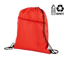 Mochila con cordones RPET con sello RPET