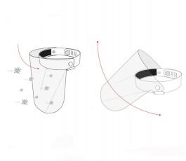 Ilustracion del funcionamiento de la pantalla proteccion covid 19