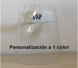 pantalla proteccion covid 19 personalizada con un logo